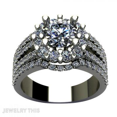 Three Shank Engagement Ring With Matching Band, Rings, Engagement