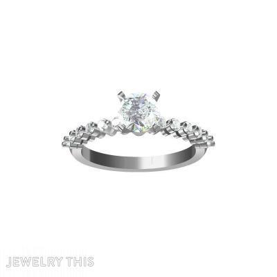 Float Prong Set Diamond, Rings, Engagement