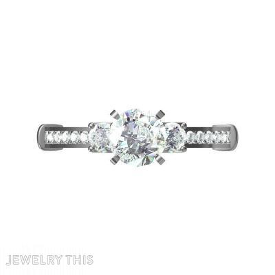 Prong And Pave Set, Rings, Engagement