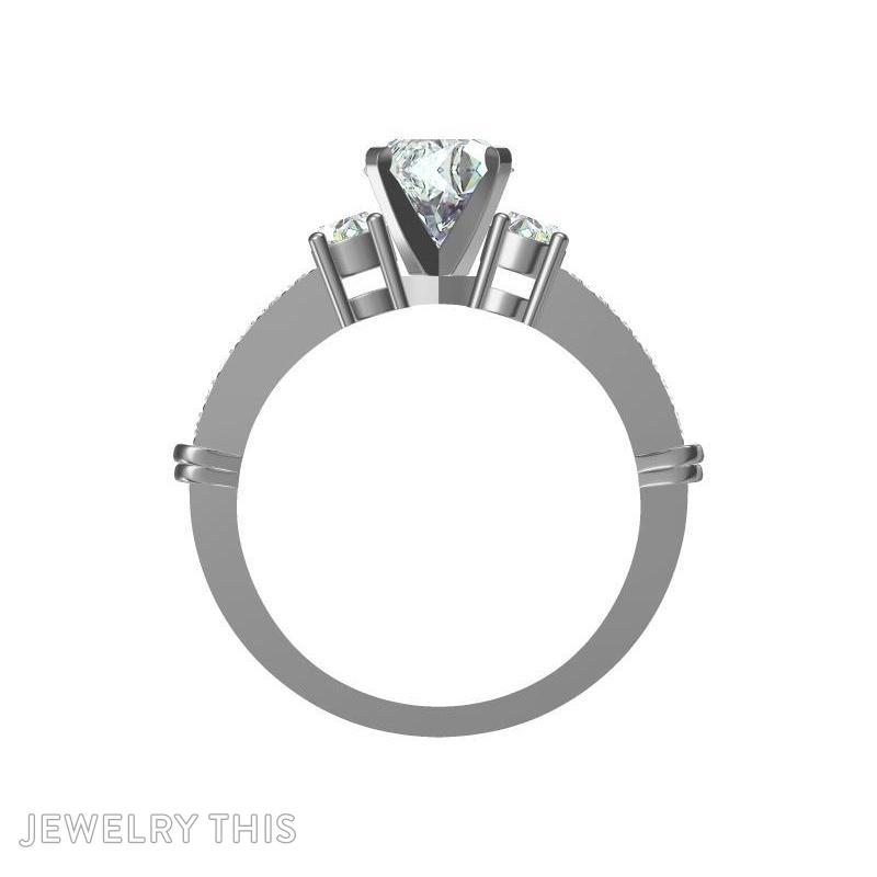 Prong And Pave Set, Rings, Engagement, image 2