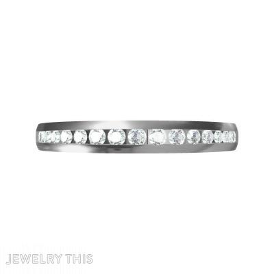 Channel Set Diamond, Rings, Wedding