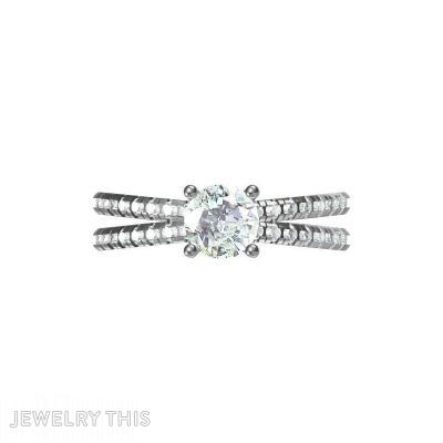 Butterfly Look-Split Shank, Prong Setting, Rings, Engagement