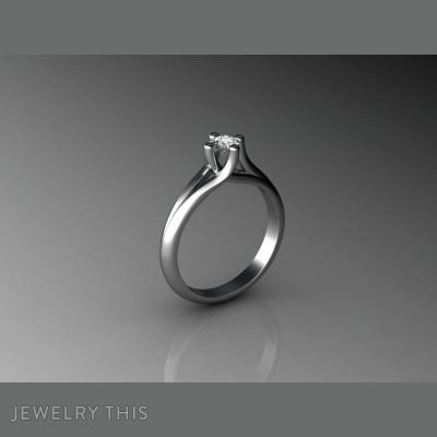 Clasic One-Stone, Rings, Engagement