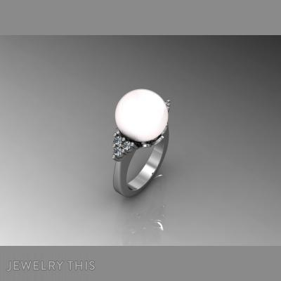 Pearl, Rings, Fashion