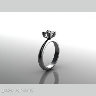 New Line Solitaire, Rings, Engagement