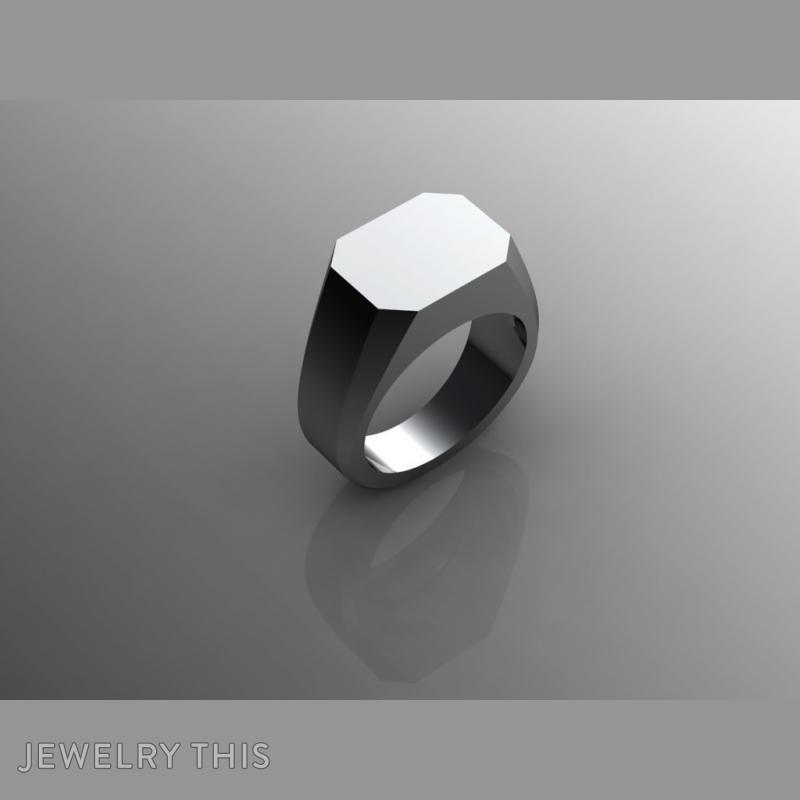 Blank Signet M, Rings, Signet, image 3