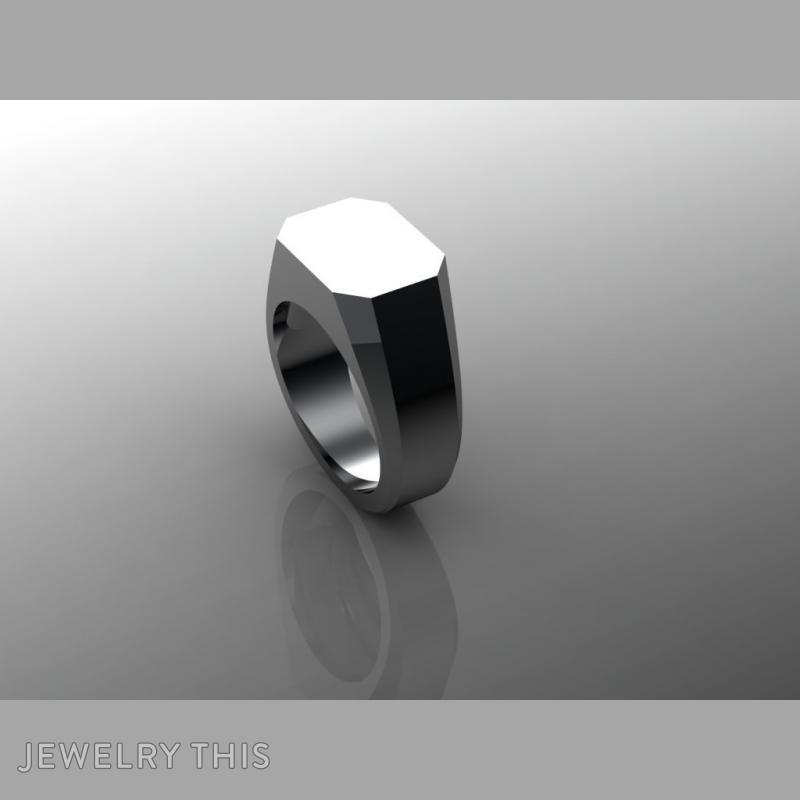 Blank Signet M, Rings, Signet, image 2
