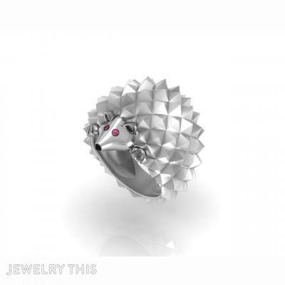 Hedgehog, Rings, Fashion