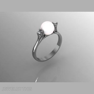 Pearl, Rings, Engagement