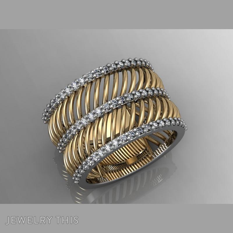 Curves Ring, Rings, Fashion