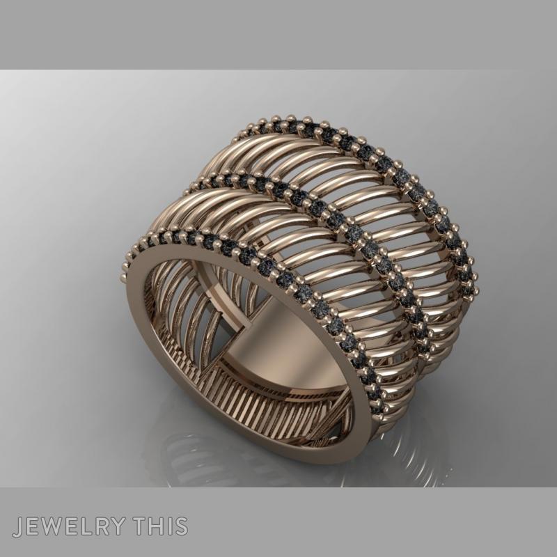 Curves Ring, Rings, Fashion, image 3
