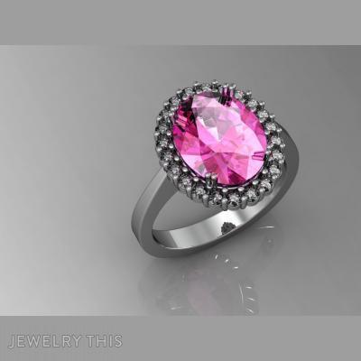 Sapphire Rosette, Rings, Engagement