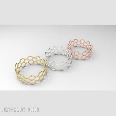 Honeycomb, Rings, Fashion