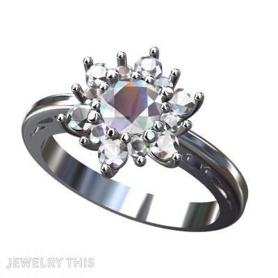 Cluster Ring, Rings, Wedding