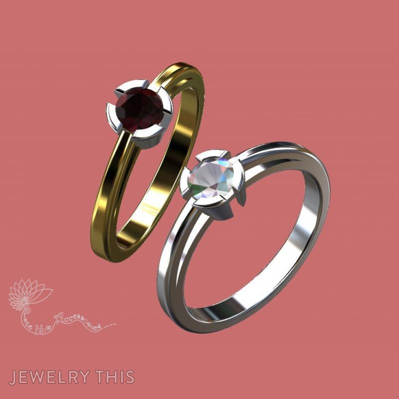 Split Tube Solitaire, Rings, Engagement