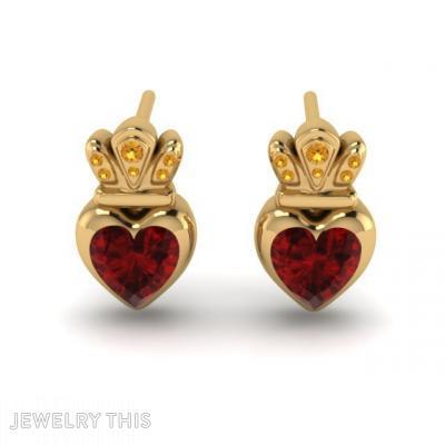 Hold My Heart, Earrings, Stud (Post)
