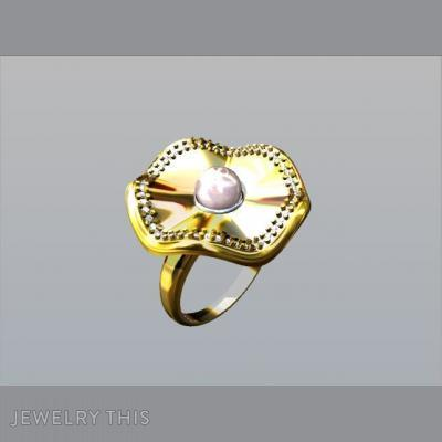Gold, Diamonds, And Pearl, Rings, Fashion