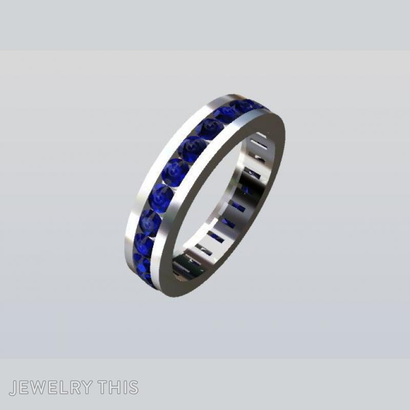 White Gold And Tanzanite, Rings, Eternity Band