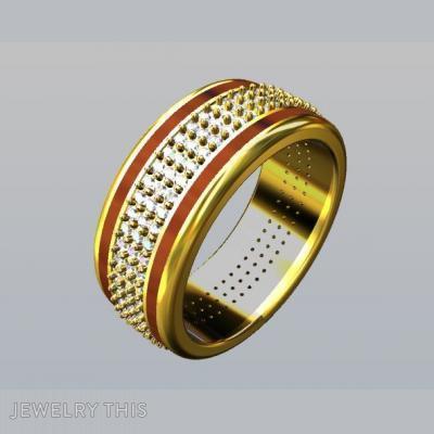 Gold, Diamonds, And Wood, Rings, Men's