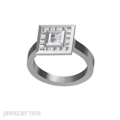 Princess Cut, Diamond, Rings, Engagement