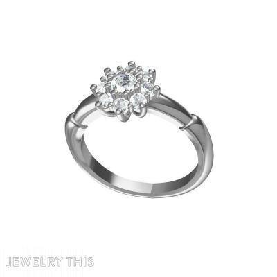 Diamond Cluster, Rings, Engagement