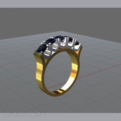 U-Collet Half Eternity, Rings, Engagement