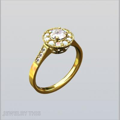 Gold Cluster, Rings, Engagement