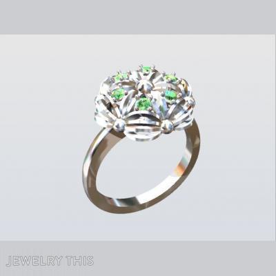 Gold And Green Garnets, Rings, Fashion