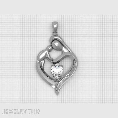 """""""mother's Heart"""", Pendants, General"""