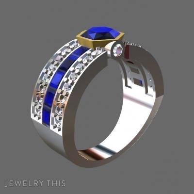 Gold, Diamonds And Tanzanites, Rings, Wedding