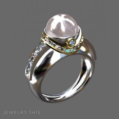 Gold, Diamond, And Pearl, Rings, Fashion