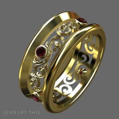 Gold And Ruby, Rings, Fashion