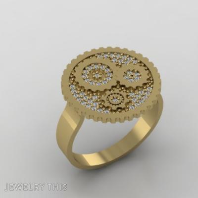 Golden Gears, Rings, Fashion