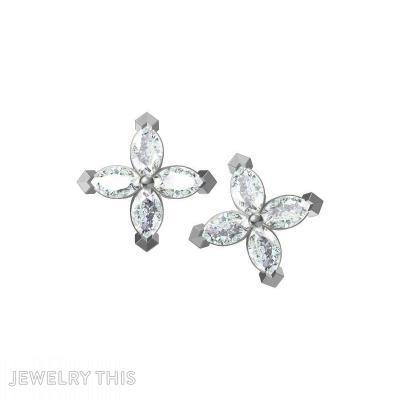 Marquise Diamond, Earrings, Stud (Post)