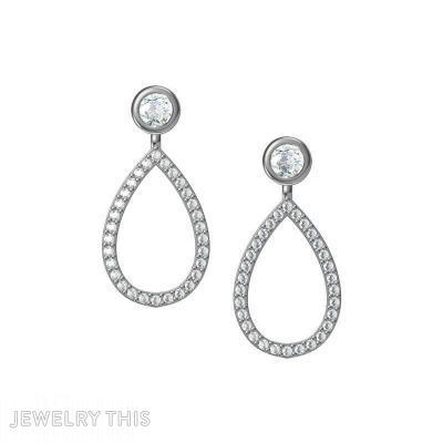 Pear-Shaped, Earrings, Chandelier (Dangle)