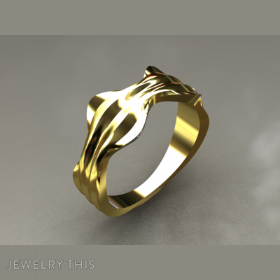 Wavy 3, Rings, Wedding
