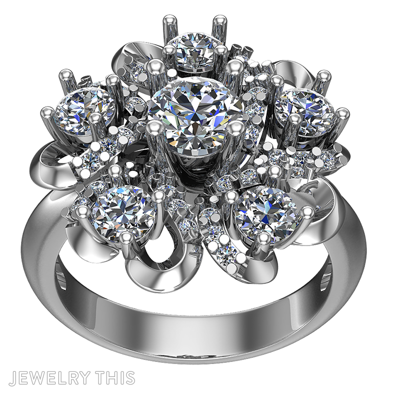 3D Jewelry Design: Cocktail Ring » Jewelrythis ~ Jewelry