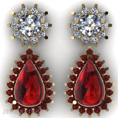 Drop Earring, Earrings, Drop