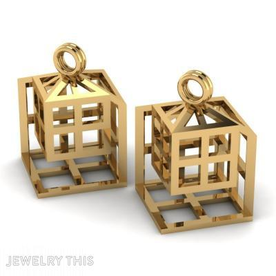 Square Within A Square, Earrings, Drop