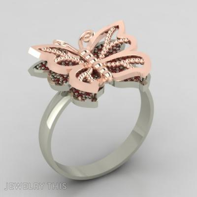 Golden Butterfly, Rings, Fashion