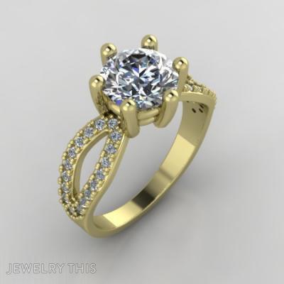 Golden, Rings, Engagement
