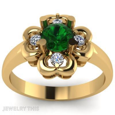 Four-Leaf Clover, Rings, Fashion