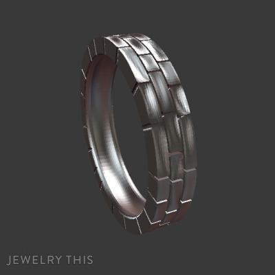 Wailing-Wall-Ring, Rings, Men's