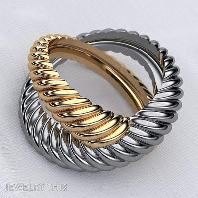 Twisted Rope Ring, Rings, Engagement