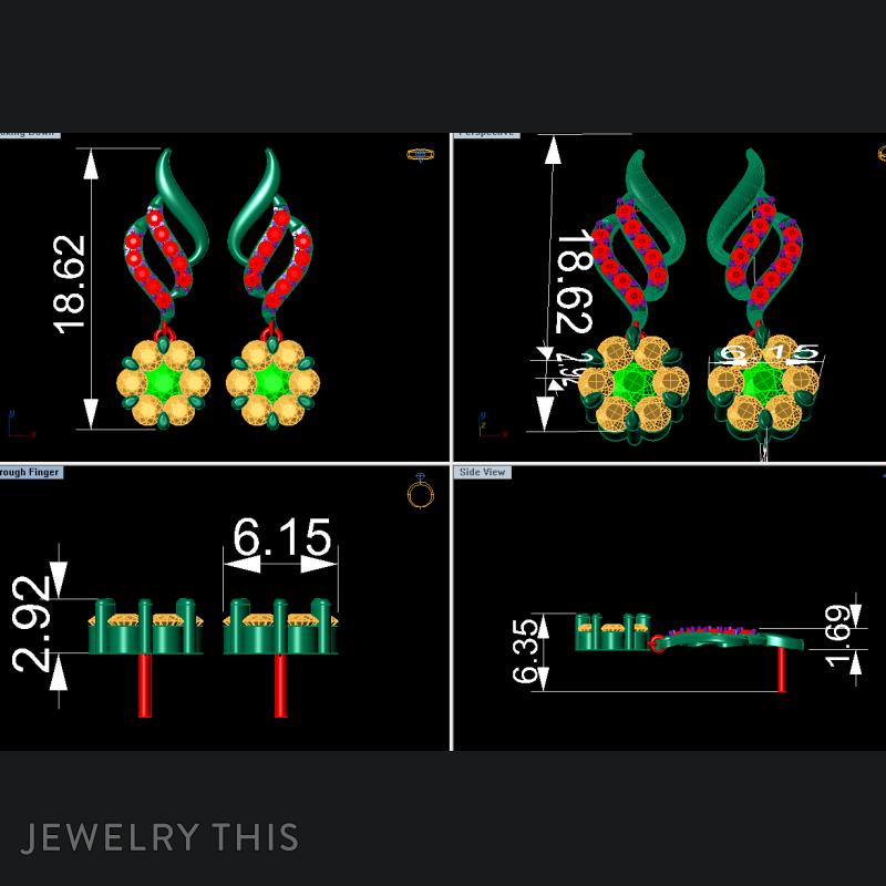 Chandelier (Dangle) Earring, Earrings, Chandelier (Dangle), image 3
