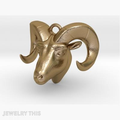 Ram Head Pendant, Pendants, General