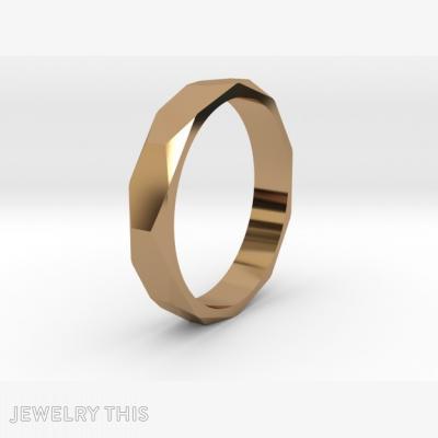 Beveled Ring, Rings, Men's
