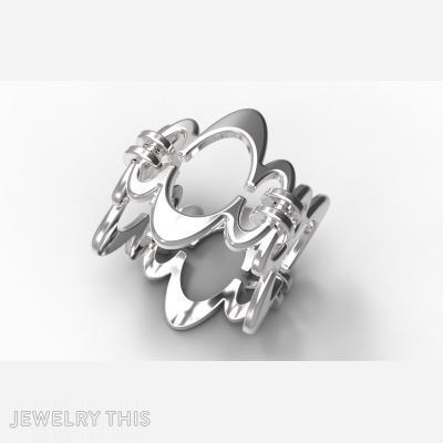 Ring Sh-W-0003, Rings, Concave