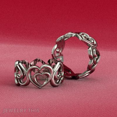 Double Heart Ring, Rings, Fashion
