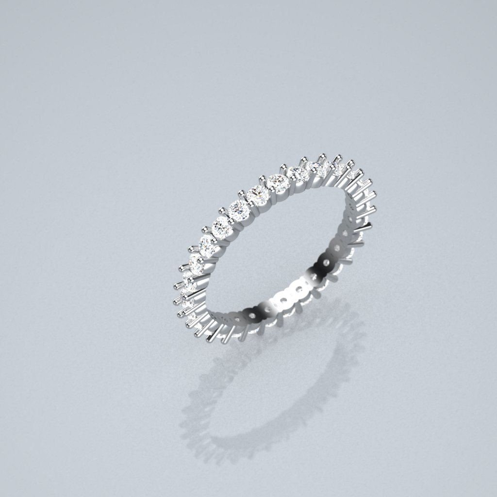 Simple Full Et Eternity Band Ring, Classic, Engagement, Retro Style  [933106331]